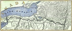 Erie Canal map c. 1840