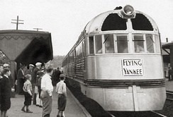 Boston and Maine's Flying Yankee (identical to the Pioneer Zephyr trainset), February 1938
