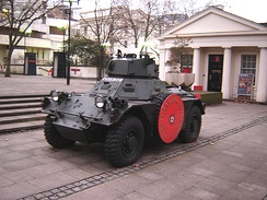 The Ferret was operated by the regiment's reconnaissance platoon in West Germany before and after conversion to armoured infantry.