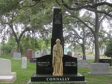 Connally tombstone at Texas State Cemetery in Austin, Texas
