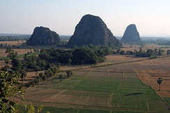 The limestone landscape of Kayin State.