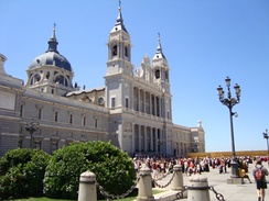 Almudena Cathedral is the current cathedral.