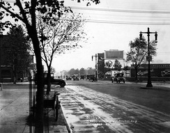 September 1920 photo near the intersection of Broad Street and Northeast Boulevard (now known as Roosevelt Boulevard) in Philadelphia