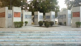 Memorial to the 1971 Dhaka University massacre