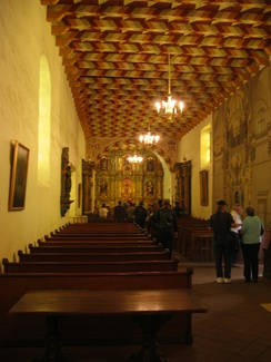 The interior of the Mission chapeolores
