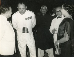 Ayub Khan in 1958 with H. S. Suhrawardy and Mr. and Mrs. S. N. Bakar.
