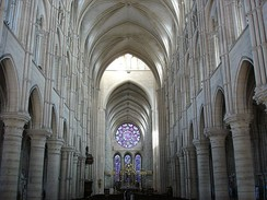 The Gothic interior of Laon Cathedral, France