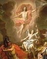 Resurrection by Noël Coypel, 1700, using a hovering depiction of Jesus.