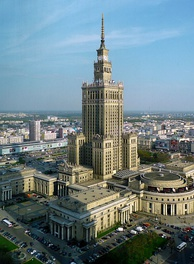 Communist aspirations were symbolized by the Palace of Culture and Science in Warsaw