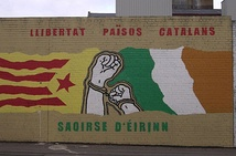Mural for Catalan independence in Belfast.