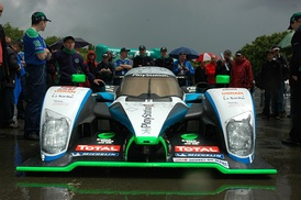 Despite using a 2008-spec Peugeot 908 HDi FAP, Pescarolo Sport qualified fourth.
