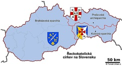 Eparchies in Slovakia