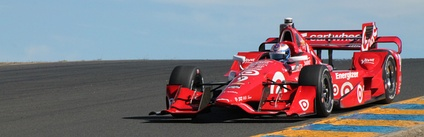 Dixon racing at Sonoma Raceway, the weekend when he secured his fourth IndyCar title