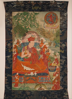 Mipam Chokyi Wangchug, (1584-1630) the 6th Shamar Rinpoche, 16th-century painting from the Rubin Museum of Art