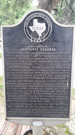 State Adjutant General Texas historical marker in Camp Mabry