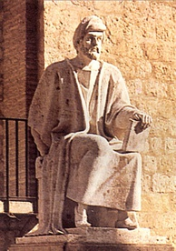 Ibn Rushd (Averroes) Muslim polymath from Spain.