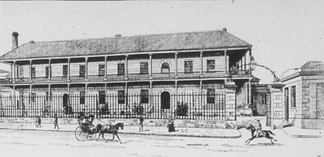 Drawing of Sydney Royal Mint building in 1888