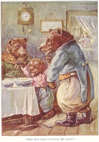 """The Story of the Three Bears"", illustration from Childhood's Favorites and Fairy Stories"