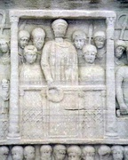 Theodosius I was the last Roman emperor who ruled over an undivided empire (detail from the Obelisk at the Hippodrome of Constantinople).