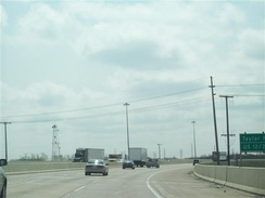 I-90 at US 12/US 20 in Gary, Indiana