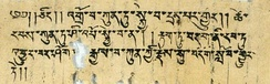Old Tibetan text found at Turfan