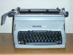 Mechanical desktop typewriters, such as this Touchmaster Five, were long-time standards of government agencies, newsrooms, and offices