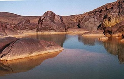 A guelta, close to Oubankort in Adrar des Ifoghas.
