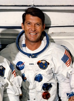 Wally Schirra one of the earliest NASA astronauts to enter into space (1962), taking part in the Mercury Seven program and later Gemini and Apollo programs