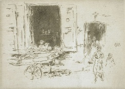 The Barrow, Brussels, 1887, etching and drypoint