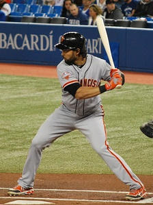 Pagán batting for the San Francisco Giants in 2013