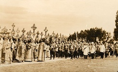 The 200th Anniversary celebrations of the Battle of Poltava in June 1909