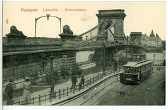 A tram in Budapest in 1908. The city established a network of electric trams in 1894.