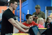A US Air Force member providing youth mentoring.