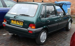 Rear of a Rover Metro