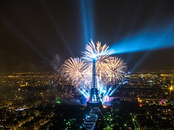 The tower is the focal point of New Year's Eve and Bastille Day (14 July) celebrations in Paris.