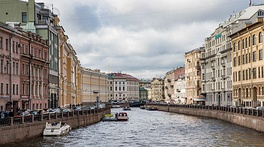 Moyka River, flowing through Central Saint Petersburg