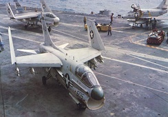 A-7Bs of CVW-16 on USS Ticonderoga in 1968