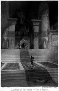 Alexander at the Temple of Apis in Memphis, by Andre Castaigne (1898–1899).