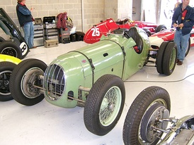 A pre-WWII (c. 1938) Alta competition model fitted with twin rear wheels for added traction in hillclimb events.