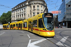 Tram in the city centre (Bankverein)