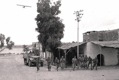 IDF forces in Beersheba during Operation Yoav.