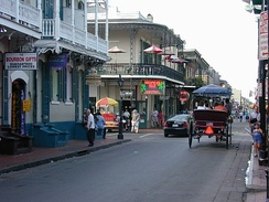 The Rue Bourbon, or Bourbon Street, was named for the former ruling dynasty of France.