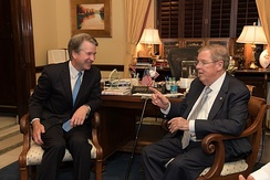 Isakson with Brett Kavanaugh in 2018