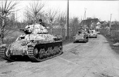 German troops using captured French tanks (Beutepanzer) in Normandy, 1944