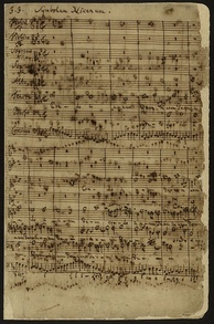 J.S. Bach. Original page from Credo (Symbolum Nicenum) section of Mass in B minor