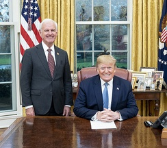 Bradley Byrne with Donald Trump in the Oval Office in December 2019.