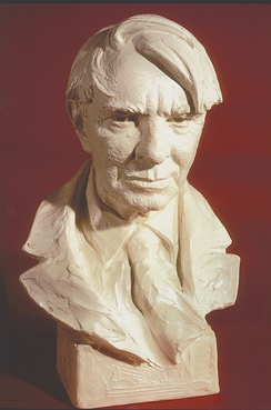 Carl Sandburg portrait sculpture by Avard T. Fairbanks