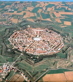 Palmanova, Italy, founded in the 16th century.