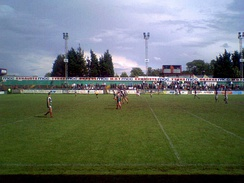Cougar Park in 2007: Keighley versus Featherstone Rovers