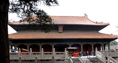 The Dacheng Hall, the main hall of the Temple of Confucius in Qufu
